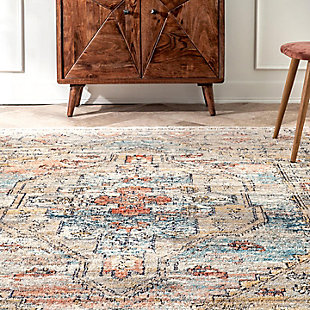 "Nuloom Marley Cardinal Cartouche 5' 3"" x 7' 3"" Area Rug, Beige, large"