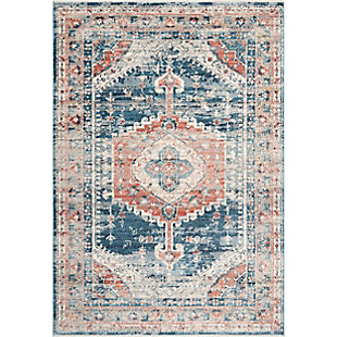 "Nuloom Harley Barbed Mast Medallion 5' 3"" x 7' 3"" Area Rug, Blue, large"