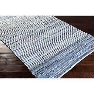 Home Accents Denim 8' x 11' Area Rug, Blue, rollover