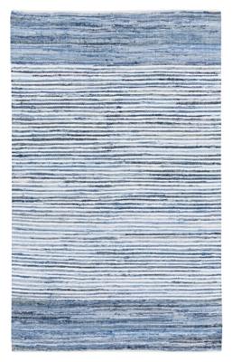 """World Needle Denim 3' 6"""" x 5' 6"""" Rug, Blue, large"""