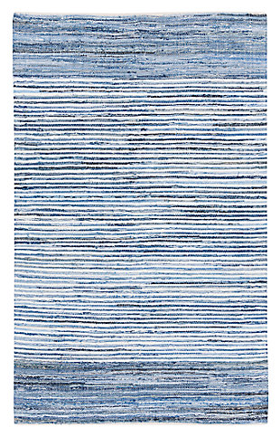 "Home Accents Denim 3' 6"" x 5' 6"" Area Rug, Blue, large"