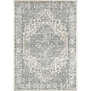 "Nuloom Promise Ornate Medallion 5' 3"" x 7' 7"" Area Rug, Blue, rollover"
