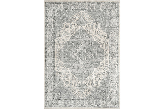 "Nuloom Promise Ornate Medallion 5' 3"" x 7' 7"" Area Rug, Blue, large"