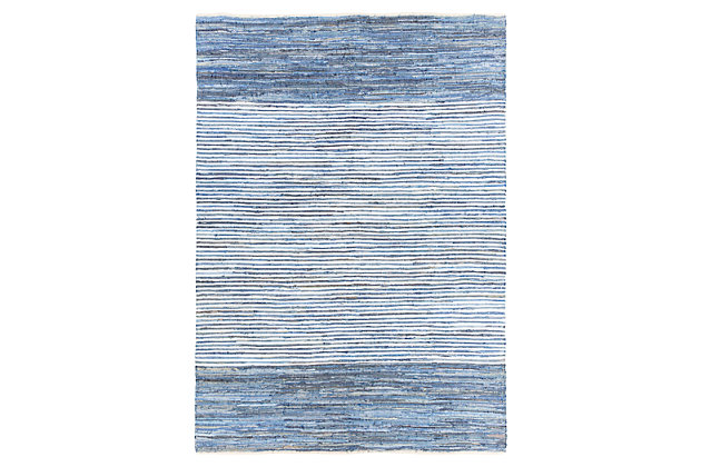 Home Accents Denim 8' x 11' Area Rug, Blue, large