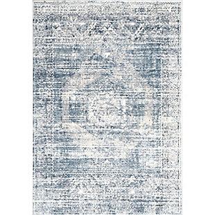 "Nuloom Jayla Barbed Iris Medallion 5' 3"" x 7' 7"" Area Rug, Blue, large"