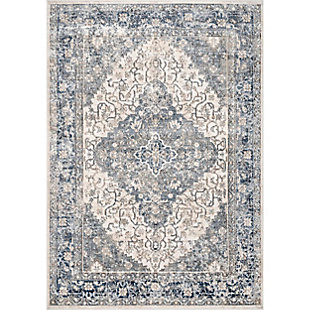 "Nuloom Giovanna Plated Medallion 5' 3"" x 7' 7"" Area Rug, Blue, rollover"