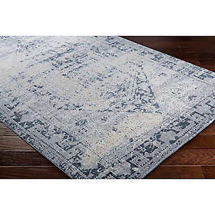 "Home Accents Durham 6' 7"" x 9' 6"" Area Rug, Blue, rollover"