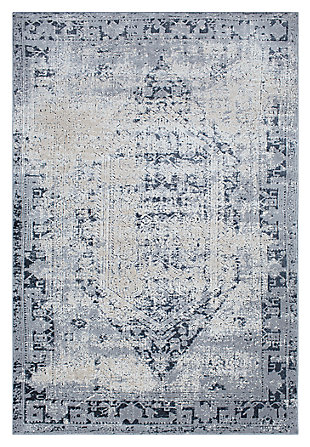 "Home Accents Durham 6' 7"" x 9' 6"" Area Rug, Blue, large"