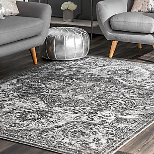 Nuloom Maryanne Transitional Medallion 5' x 8' Area Rug, Gray, rollover