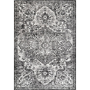 Nuloom Maryanne Transitional Medallion 5' x 8' Area Rug, Gray, large