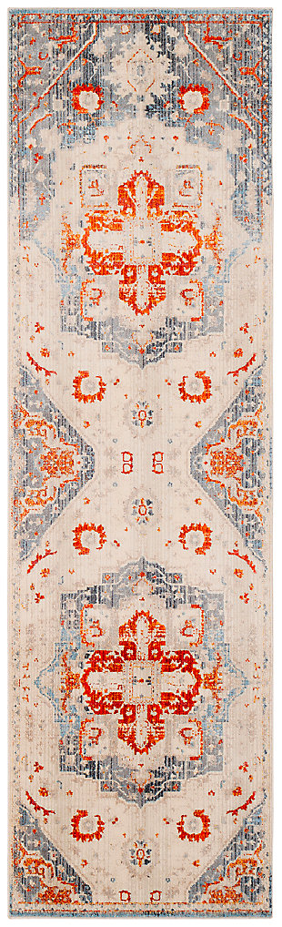 "Home Accents Ephesians 2' 7"" x 9' Area Rug, Orange, large"