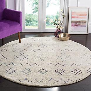 Safavieh Casablanca 6' x 6' Round Area Rug, Cream, rollover