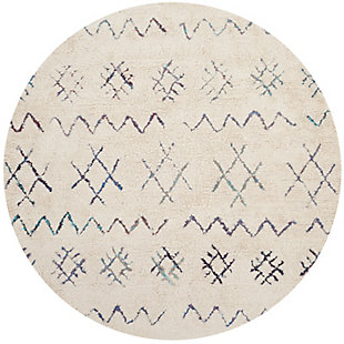 Safavieh Casablanca 6' x 6' Round Area Rug, Cream, large