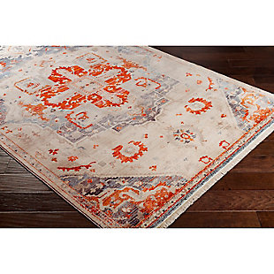 "Medium Rug Ephesians 2' 7"" x 5' Area Rug, Orange, rollover"