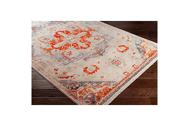 "Home Accents Ephesians 3' 11"" x 5' 7"" Area Rug, Orange, large"