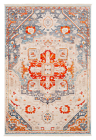 "Medium Rug Ephesians 2' 7"" x 5' Area Rug, Orange, large"