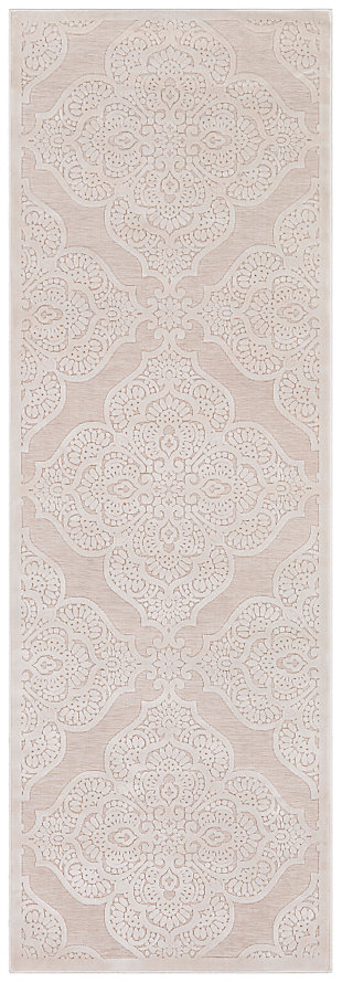 "Home Accents Fabolous 2' 7"" x 7' 6"" Runner, Beige, large"