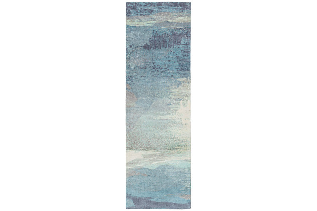 "Home Accents Felicity 2' 6"" x 8' Runner, Blue, large"