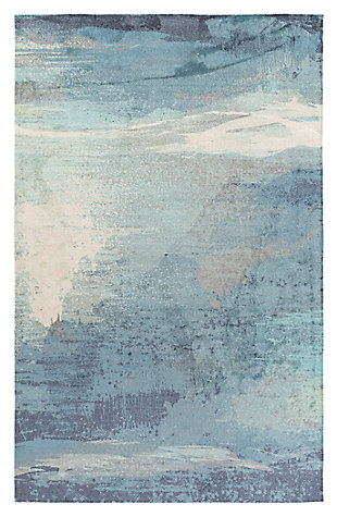 Home Accents Felicity 4' x 6' Area Rug, Blue, large