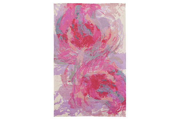 Home Accents Felicity 4' x 6' Area Rug, Red, large
