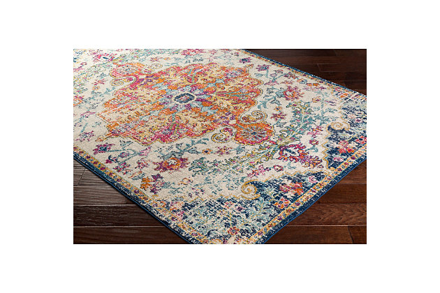 "Home Accents Harput 2' 7"" x 7' 3"" Runner, Blue, large"