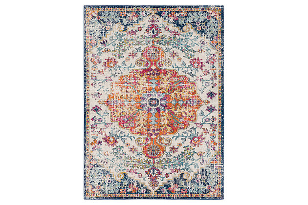 "Home Accents Harput 5' 3"" x 7' 3"" Area Rug, Blue, large"
