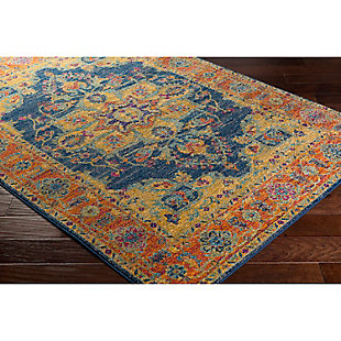 "Home Accents Harput 5' 3"" x 7' 3"" Area Rug, Orange, rollover"