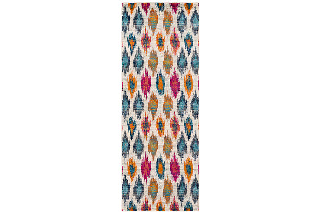 """Home Accents Harput 2' 7"""" x 7' 3"""" Runner, Red, large"""