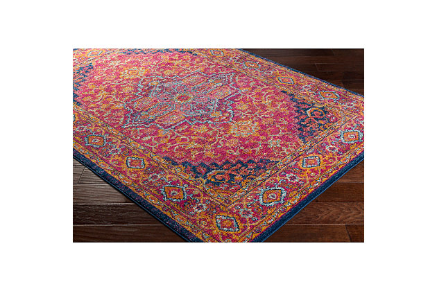 "Home Accents Harput 2' 7"" x 7' 3"" Runner, Red, large"