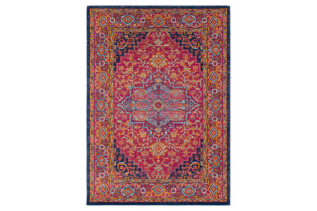 "Home Accents Harput 3' 11"" x 5' 7"" Area Rug, Red, large"