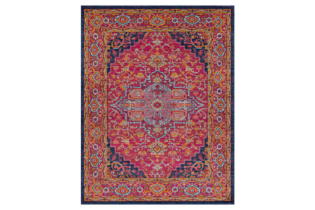 """Home Accents Harput 7' 10"""" x 10' 3"""" Area Rug, Red, large"""