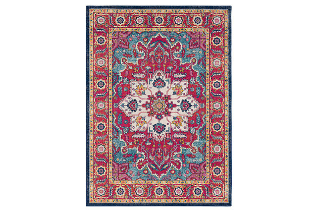 "Home Accents Harput 5' 3"" x 7' 3"" Area Rug, Red, large"