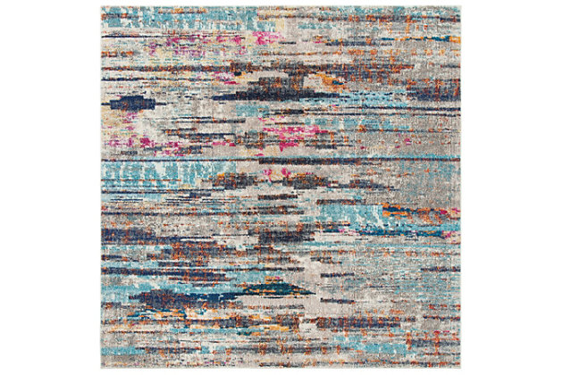 Safavieh Madison 6'-7 x 6'-7 Round Area Rug, Gray, large