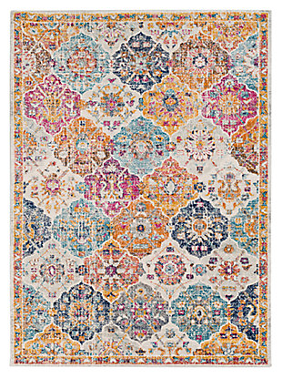 "Home Accents Harput 5' 3"" x 7' 3"" Area Rug, Orange, large"