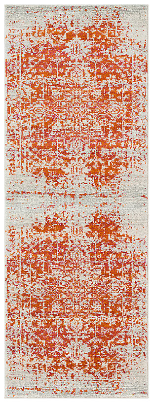 "Home Accents Harput 2' 7"" x 7' 3"" Runner, Orange, large"