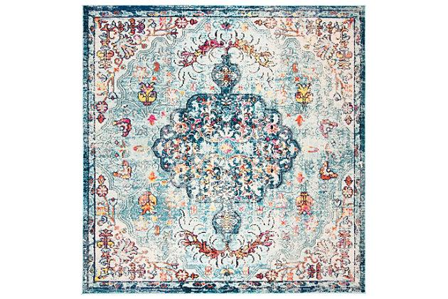 Safavieh Madison 3' x 3' Square Area Rug, Blue, large