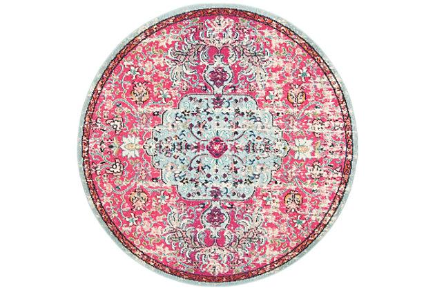 Safavieh Madison 6'-7 x 6'-7 Round Area Rug, Red/Burgundy, large