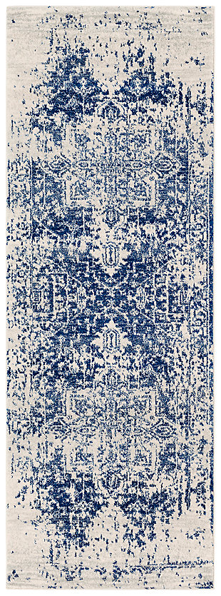 "Home Accents Harput 2' 7"" x 7' 3"" Runner, Dark Blue, large"