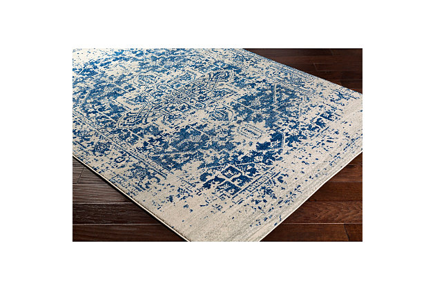 "Home Accents Harput 5' 3"" x 7' 3"" Area Rug, Dark Blue, large"