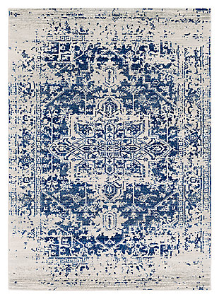 "Home Accents Harput 6' 7"" x 9' Area Rug, Dark Blue, large"
