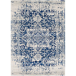 "Home Accents Harput 5' 3"" x 7' 3"" Area Rug, Dark Blue, rollover"