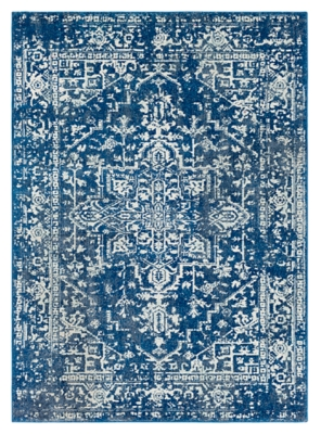 Surya World Needle 3' X 5' Rug, Dark Blue, large