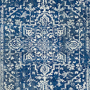 Home Accents 3' x 5' Rug, Dark Blue, large