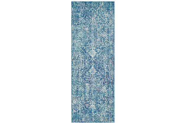 """Home Accents Harput 2' 7"""" x 7' 3"""" Runner, Blue, large"""