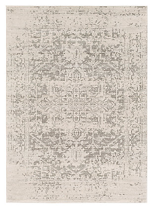 "Home Accents Harput 6' 7"" x 9' Area Rug, Gray, large"