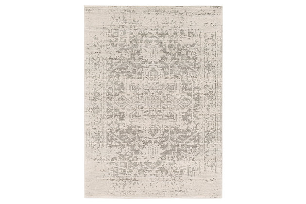 Home Accents Harput 3 11 X 5 7 Area Rug Gray