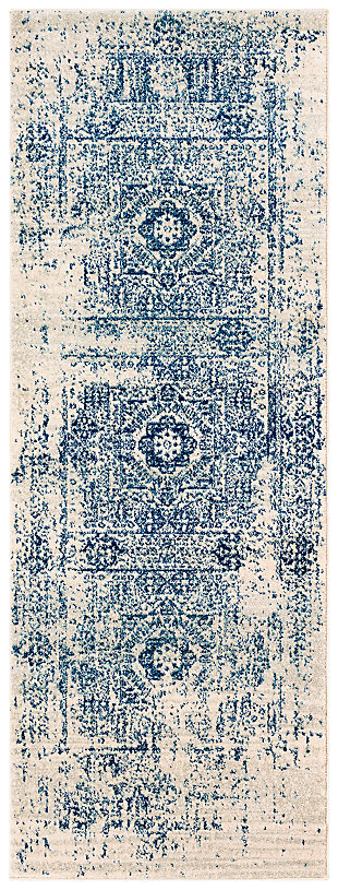 Home Accents Harput Area Rug, Blue, large