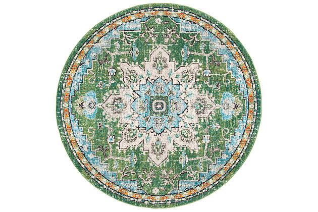 Safavieh Madison 5' x 5' Round Area Rug, Green, large