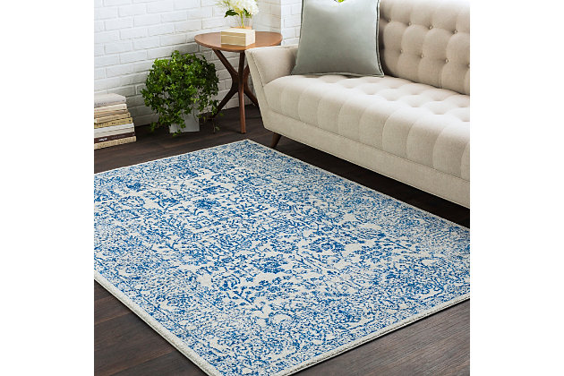 Home Accents Harput 2' x 3' Area Rug, Dark Blue, large