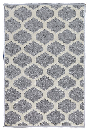 Home Accents Horizon 2' x 3' Area Rug, Gray, large